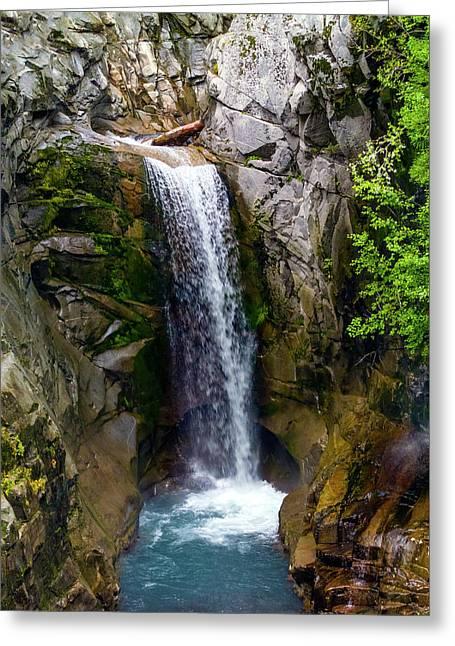 Christine Falls Mt Rainier Greeting Card