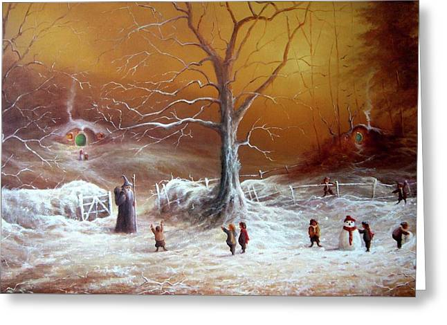A Shire Christmas  Greeting Card