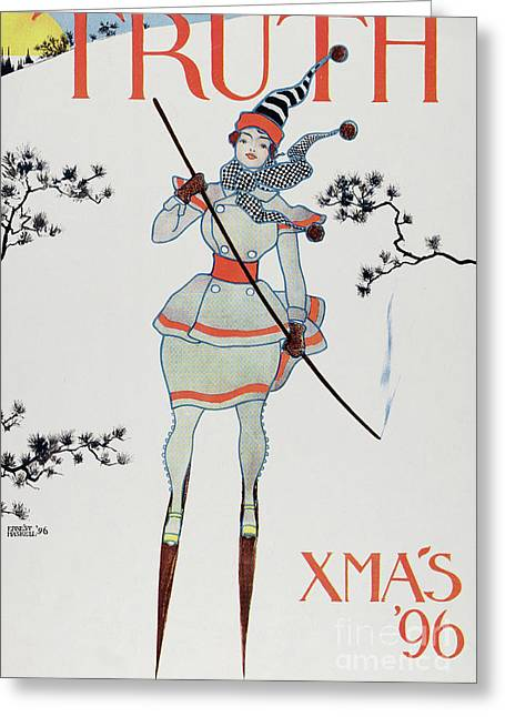 Christmas 1896 Greeting Card