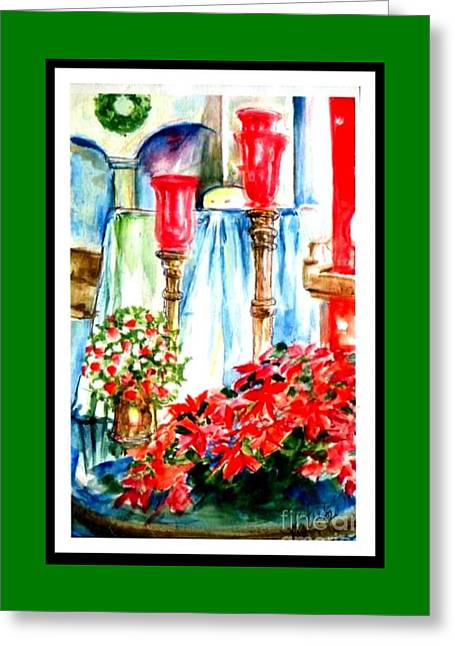 Christmas Altar At St Peters And Pauls Greeting Card by Patricia Ducher