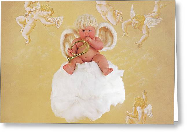 Christmas Angel Greeting Card by Anne Geddes