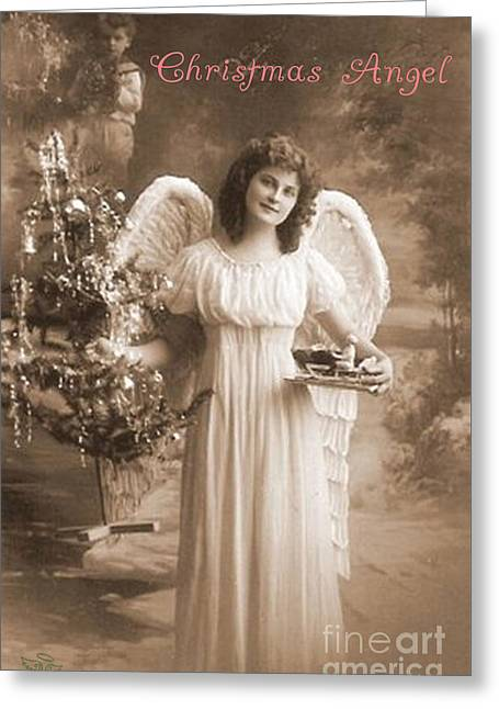 Greeting Card featuring the photograph Christmas Angel by Beauty For God