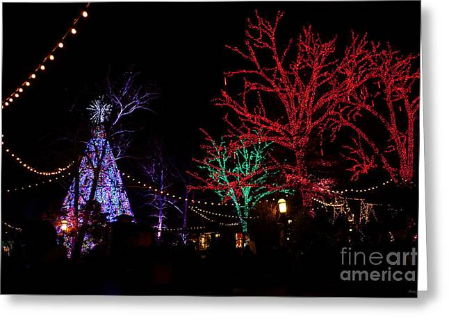 Christmas At Silver Dollar City Greeting Card by Jennifer White