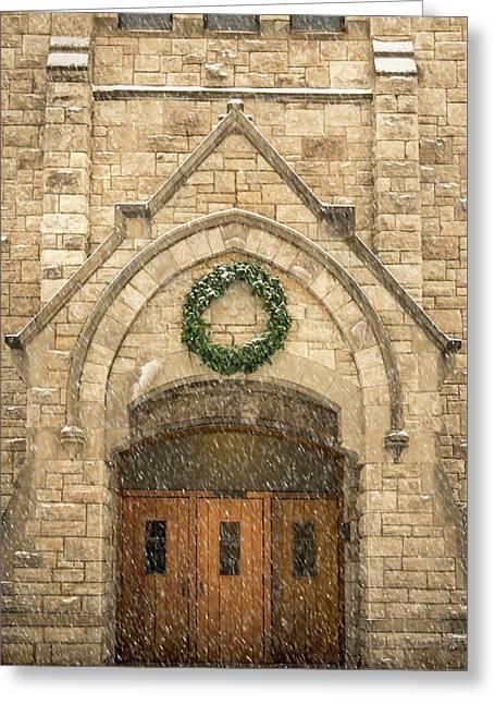 Christmas At Stone Chapel Greeting Card