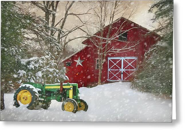 Christmas At The Barn Greeting Card
