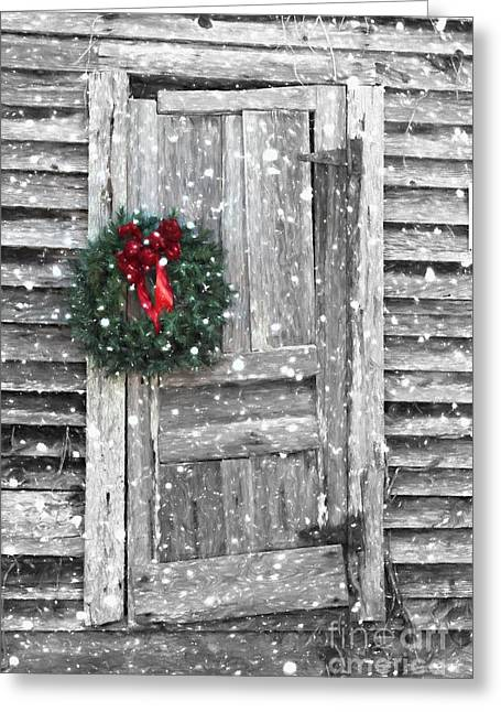 Christmas At The Farm Greeting Card