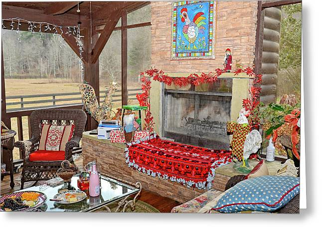 Christmas At The Farm Greeting Card