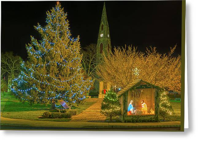Christmas At The Historic District Of Goshen New York Greeting Card