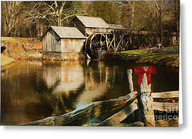 Greeting Card featuring the photograph Christmas At The Mill by Darren Fisher