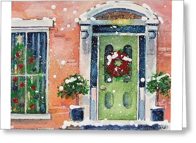 Christmas At The Rectory Greeting Card