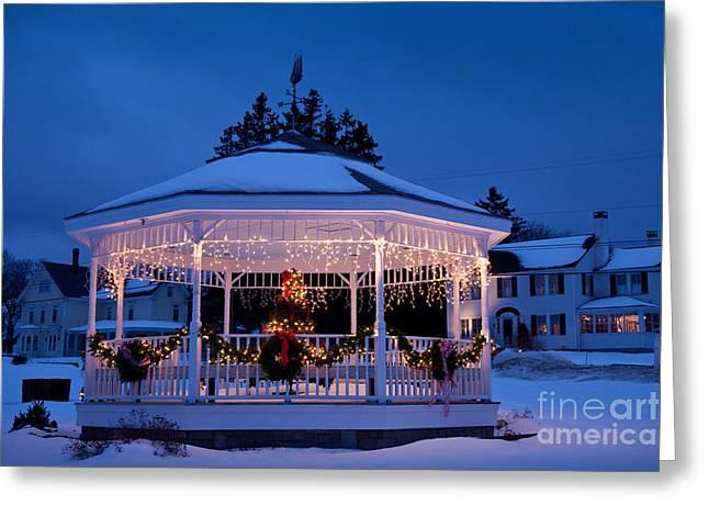 Christmas Bandstand Greeting Card