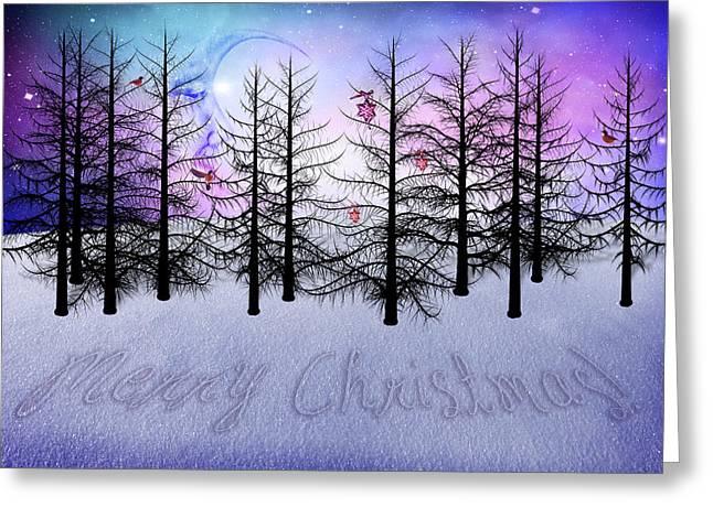 Christmas Bare Trees Greeting Card