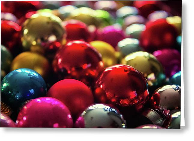 Christmas Baubles Greeting Card by Martin Newman