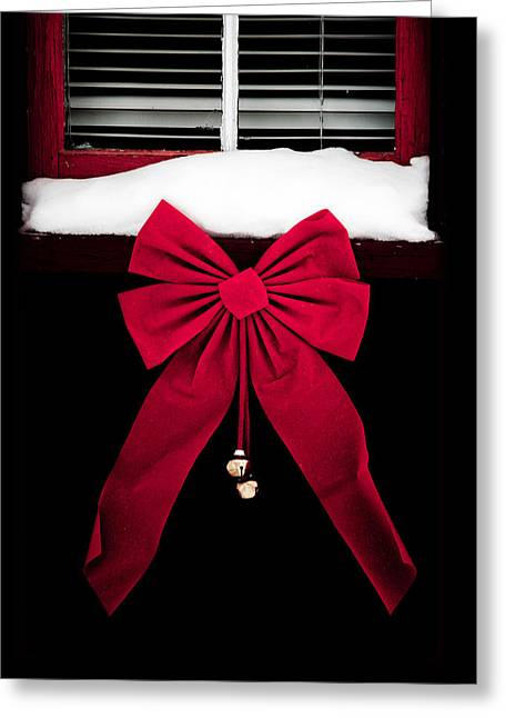 Christmas Big Red Bow - No Text  Greeting Card