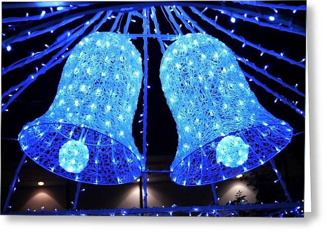 Christmas Blue Bells Greeting Card