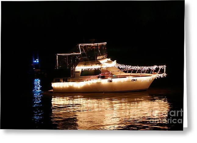 Christmas Boat Greeting Card