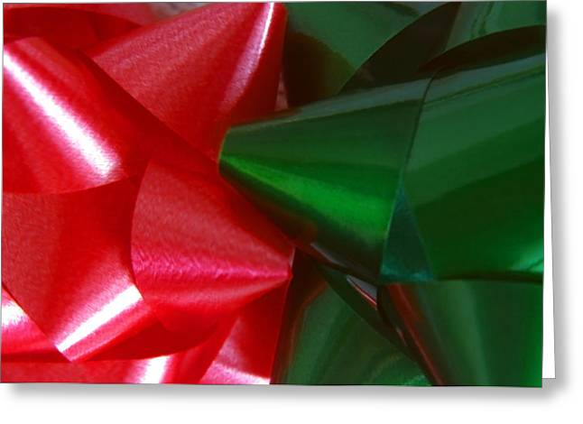 Christmas Bows 1 Greeting Card by Steve Ohlsen