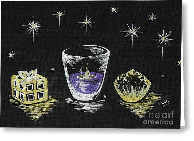 Christmas Candle Light  Greeting Card