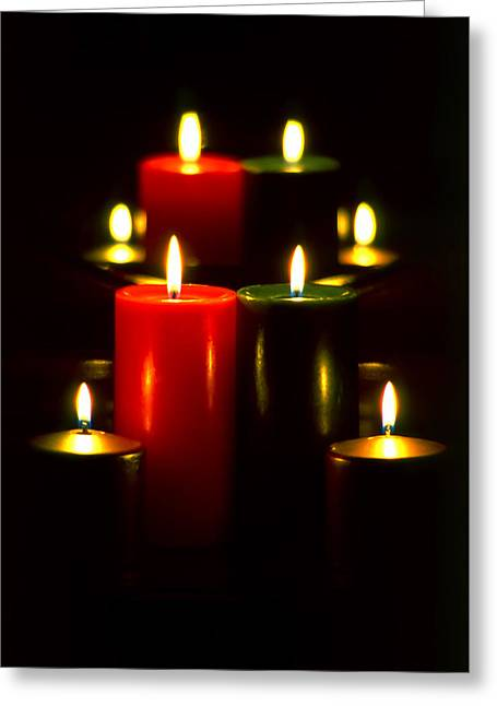 Christmas Candles 5 Greeting Card by Steve Ohlsen