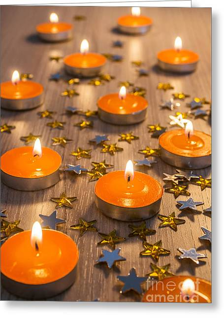 Christmas Candles Greeting Card by Carlos Caetano