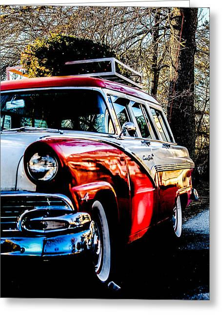 Christmas Car Greeting Card by Victory  Designs