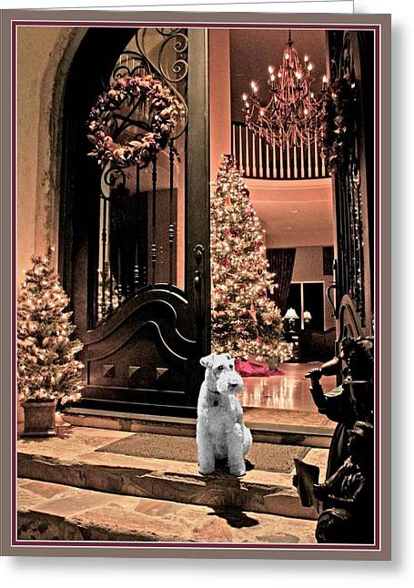 Christmas Carol Greeting Card by Chambers and  De Forge