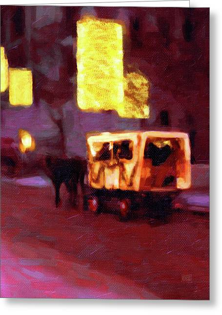 Christmas Carriage Ride In Vienna Greeting Card