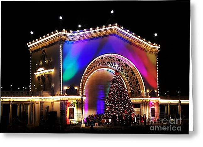 Christmas Celebration In San Diego  Greeting Card by Jasna Gopic