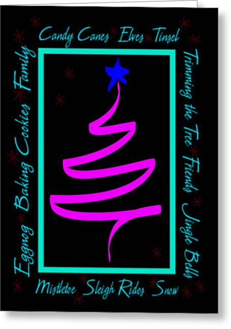 Christmas Cheer Greeting Card by Cathy Weaver
