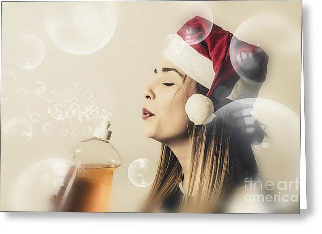 Christmas Cleaning Housewife Greeting Card by Jorgo Photography - Wall Art Gallery