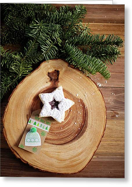 Greeting Card featuring the photograph Christmas Cookies by Rebecca Cozart