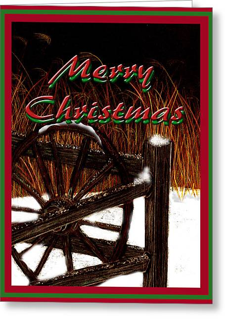 Greeting Card featuring the digital art Christmas Country by Michelle Audas