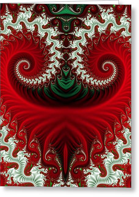 Christmas Swirls Greeting Card