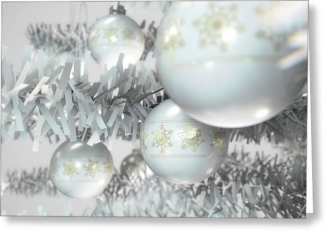 Christmas Decor White Greeting Card