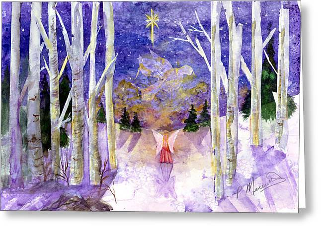 Christmas Dove's Angel Greeting Card by Patricia Merewether