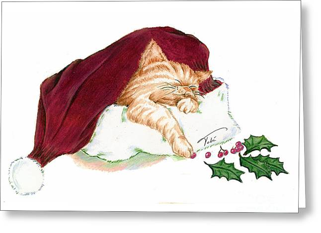 Christmas Dreamer Greeting Card by Tobi Czumak