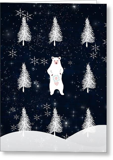 Christmas Eve - White Bear Greeting Card