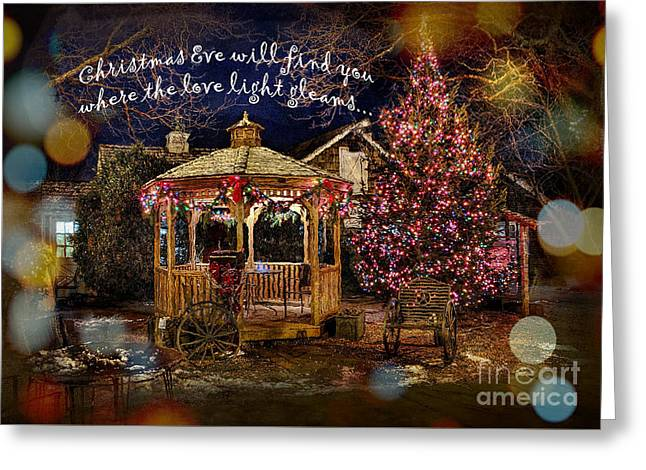 Greeting Card featuring the digital art Christmas Eve Card 2016 by Kathryn Strick