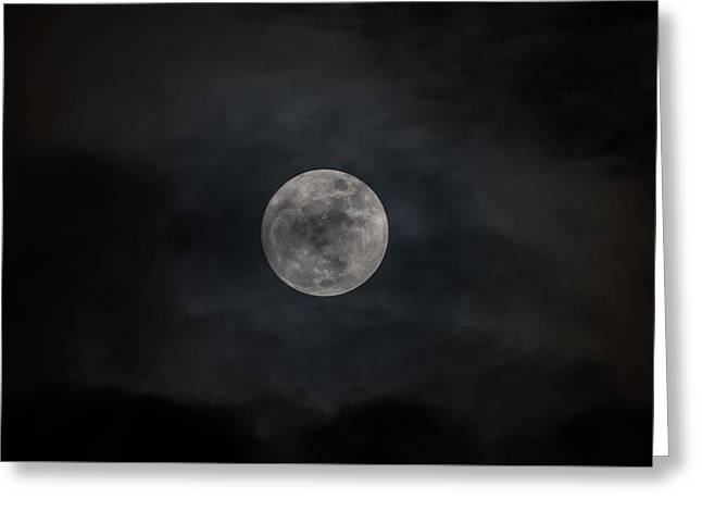 Christmas Eve Full Moon 2015 Greeting Card by Terry DeLuco