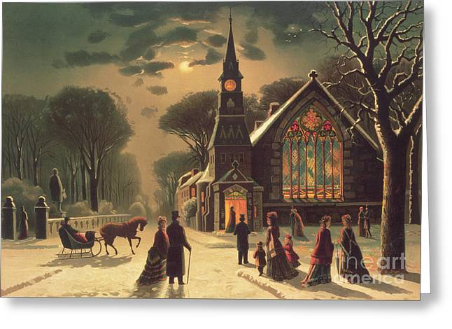 Christmas Eve Greeting Card by J Latham