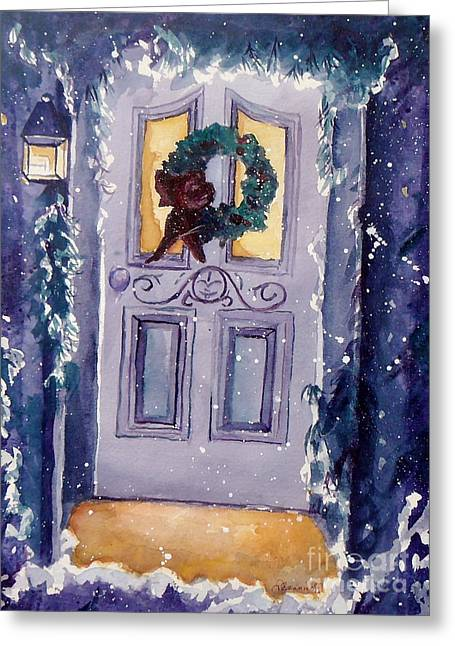 Christmas Eve Greeting Card by Jan Bennicoff