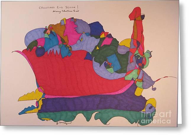 Christmas Eve Sleigh Greeting Card by James SheppardIII