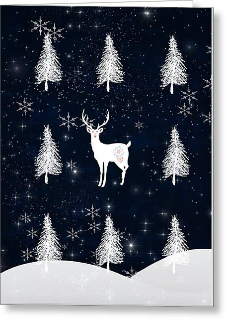 Christmas Eve - White Stag Greeting Card