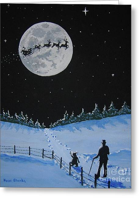 Christmas Eve Stroll Greeting Card