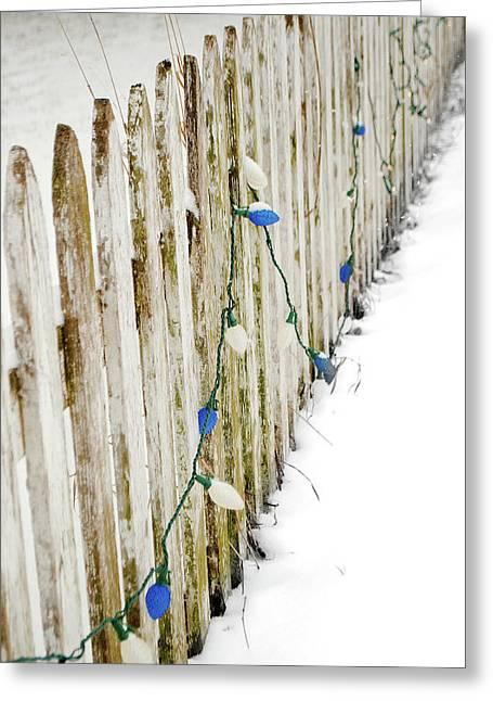 Christmas Fence Greeting Card
