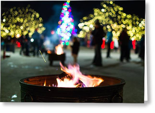 Christmas Fire Pit Greeting Card