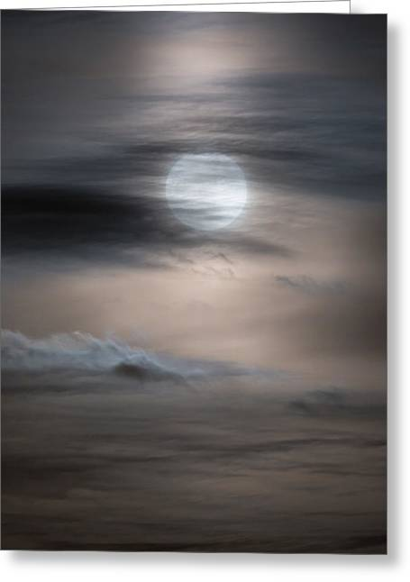 Christmas Full Moon Greeting Card by Bill Wakeley