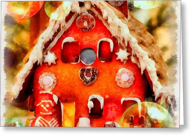 Christmas Gingerbread House Greeting Card by Esoterica Art Agency