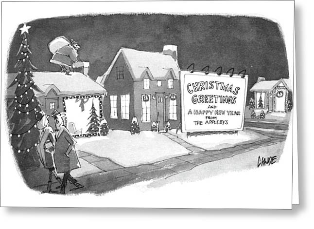 Christmas Greetings From The Applebys Greeting Card