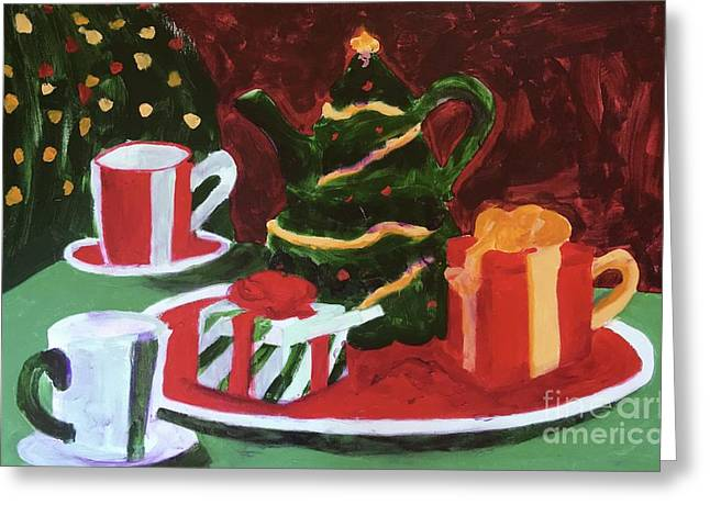 Greeting Card featuring the painting Christmas Holiday by Donald J Ryker III